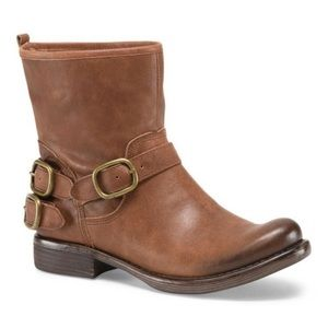 LUCKY BRAND Light Brown Leather Norton Buckle Boot